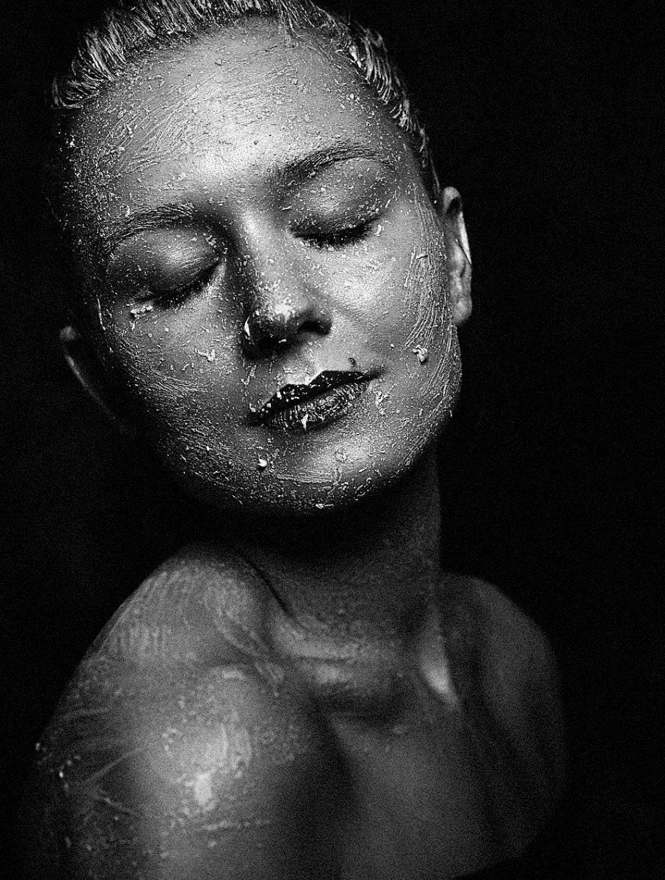 Portraitnoir Portrait Fotograf Ingolstadt Schwarzweiß Fotografie Beauty Fotografie