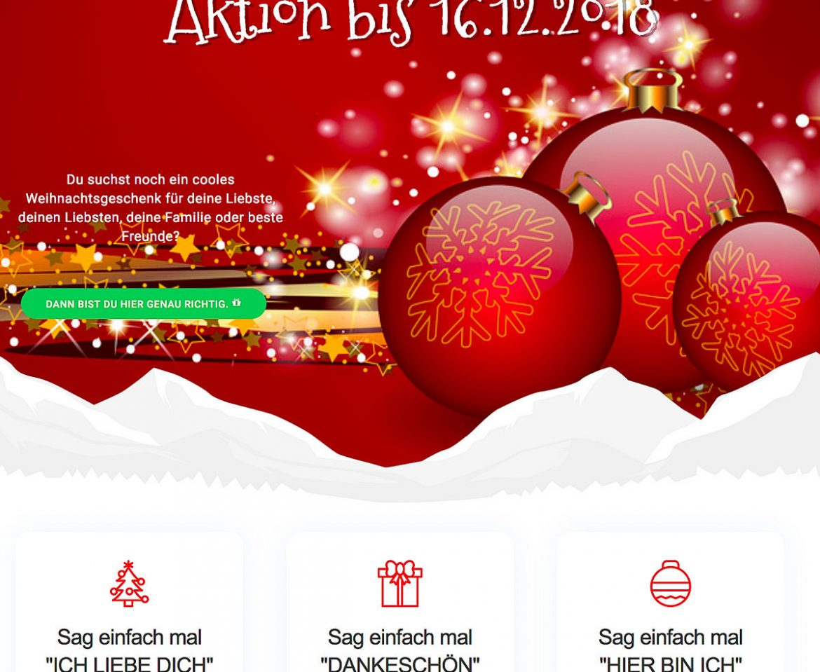 Weihnachtsshooting – AKTION